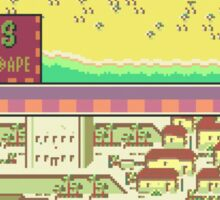 Summers Town Map - Earthbound/Mother 2 Sticker