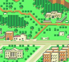 Onett Town Map - Earthbound/Mother 2 Sticker