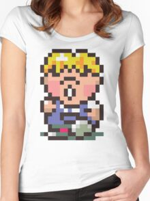 Pokey Minch - Earthbound/Mother 2 Women's Fitted Scoop T-Shirt