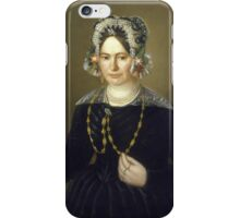 Unknown Artist, Portrait of the Wife of Israel Mintz,  iPhone Case/Skin