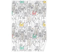Doodle cats Poster
