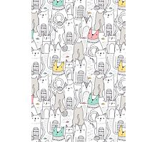 Doodle cats Photographic Print