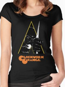 A Clockwork Orange (Airbrushed) Women's Fitted Scoop T-Shirt