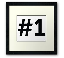 Sport Number 1 One Framed Print