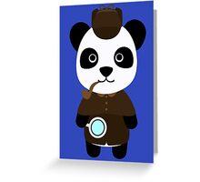 Panda Sherlock Holmes! Greeting Card