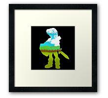 Zelda - Silhouette Framed Print
