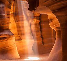 Antelope Canyon Gorgeous Lightbeam by Melanie Viola