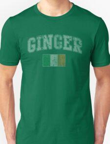 Vintage Ginger Flag of Ireland Unisex T-Shirt