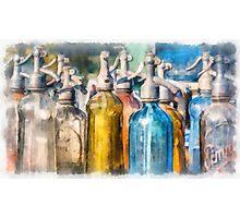 Vintage Seltzer Bottles Photographic Print