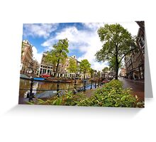 Sightseeing in Amsterdam  Greeting Card