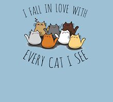 I fall in love with every cat I see Womens Fitted T-Shirt