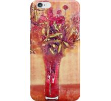 Red Vase in Winter iPhone Case/Skin