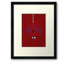 Spiderman Typography Framed Print