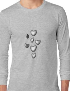 Unbreakable hearts metal Long Sleeve T-Shirt