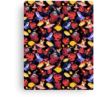 pattern of the lovers frogs Canvas Print