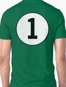 1, First, Number One, ONE, Number 1, Racing, Numero Uno, British Racing Green, Win, Winner T-Shirt