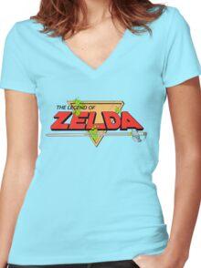 The Legend of Zelda Logo Women's Fitted V-Neck T-Shirt