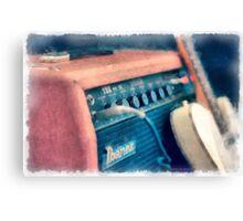 Vintage Guitar Amp Watercolor Canvas Print
