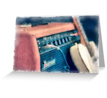 Vintage Guitar Amp Watercolor Greeting Card
