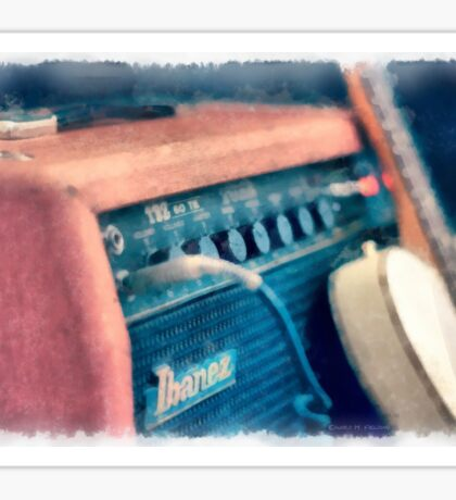 Vintage Guitar Amp Watercolor Sticker
