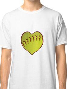 Love Softball With My Heart Classic T-Shirt