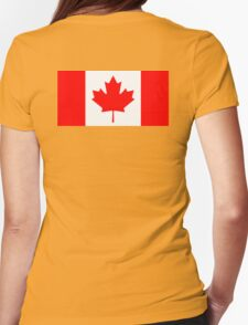 CANADA, CANADIAN, Canadian Flag, Canada Flag, Pure & Simple, National Flag of Canada, 'A Mari Usque Ad Mare' Womens Fitted T-Shirt