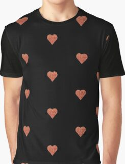 halftone heart Graphic T-Shirt