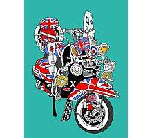 Union Jack Mods Bike Photographic Print