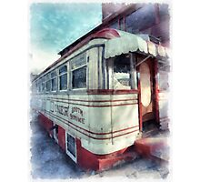 Diner Watercolor Photographic Print