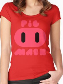 Pig Mask Logo Women's Fitted Scoop T-Shirt