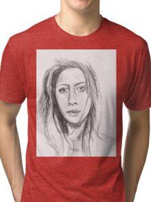 Pencil Sketch Tri-blend T-Shirt