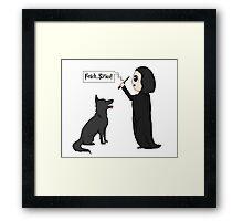 Fetch, Sirius! Framed Print