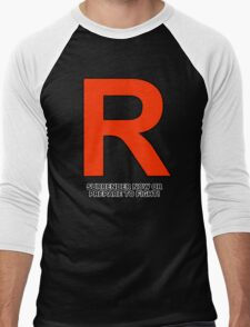 Team Rocket (Surrender Now or Prepare to Fight!) Men's Baseball ¾ T-Shirt