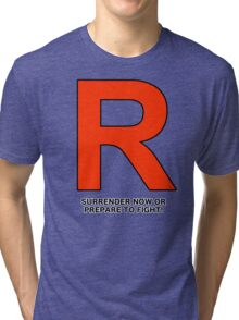 Team Rocket (Surrender Now or Prepare to Fight!) Tri-blend T-Shirt