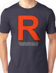 Team Rocket (Surrender Now or Prepare to Fight!) Unisex T-Shirt