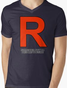 Team Rocket (Surrender Now or Prepare to Fight!) Mens V-Neck T-Shirt