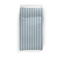 Tiny Mighty Strong Girls from the North Country Woodsy Wild Flower Blue Forget Me Not Oval by Kirsten Duvet Cover