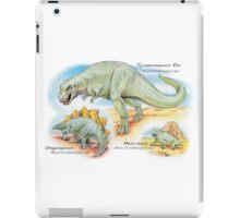 Tyrannosaurus, Stegosaurus & Moschops iPad Case/Skin