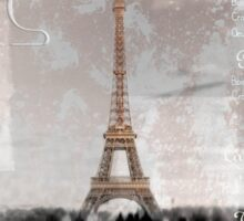 Digital-Art Eiffel Tower II Sticker