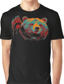 Funny Bear Wave Hand Graphic T-Shirt