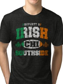 Irish Chicago South Side St Patrick's Day Tri-blend T-Shirt