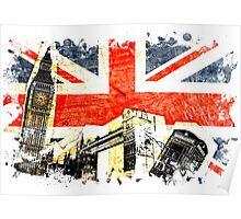 Union Jack london Poster