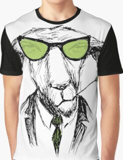 Hand Drawn Fashion Portrait of donkey Hipster  Graphic T-Shirt