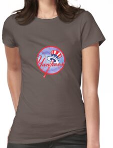 New York Yankees Watercolor Logo Womens Fitted T-Shirt
