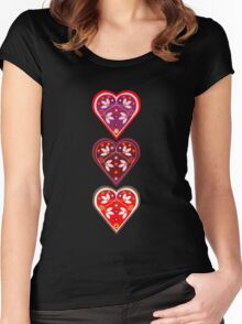 Folk Hearts Women's Fitted Scoop T-Shirt