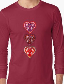 Folk Hearts Long Sleeve T-Shirt