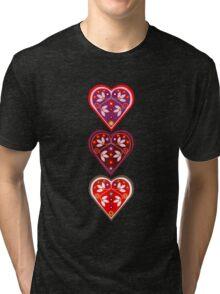 Folk Hearts Tri-blend T-Shirt
