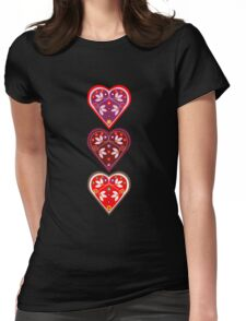 Folk Hearts Womens Fitted T-Shirt