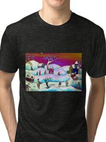 A winter scene Tri-blend T-Shirt