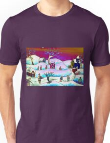 A winter scene Unisex T-Shirt